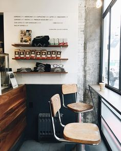 #escapeyourdesk | gasoline alley coffee | noho, NYC // looking to snag a window seat at a coffee shop this weekend? may the odds be ever in your favor.
