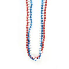 Toss them around, hand them out. These Patriotic Red, White, Blue Beaded Necklaces are great for your Memorial Day or 4th of July party. $2.99 per dozen. http://www.partypalooza.com/Merchant2/merchant.mvc?Screen=PROD&Product_Code=PatrioticNecklace33