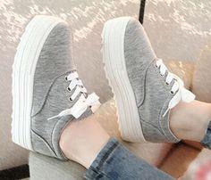 Encontrar Más Moda Mujer Sneakers Información acerca de 2015 primavera nueva moda casual zapatos de lona, zapatos de plataforma de fondo #6329, alta calidad Moda Mujer Sneakers de Happy walking shoe store en Aliexpress.com