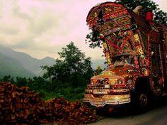 Pakistani Trucks all decorated