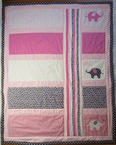 I like this idea for  a simple baby quilt.  I wonder if I have any pieces of fabric that are large enough, though!