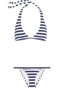 HEIDI KLEIN Palermo Striped Halterneck Bikini. #heidiklein #cloth #bikini