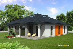 Projekt domu bungalov HARMONIA Gazebo, Outdoor Structures, Shed, Outdoor Decor, Home Decor, Pre Built Homes, Homemade Home Decor, Kiosk, Backyard Sheds
