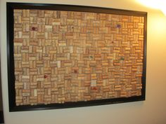 Corkboard made out of wine corks