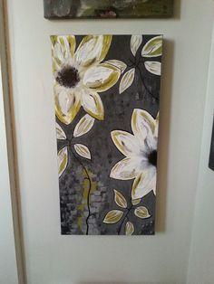 Fleurs déco - 12 x 24- acrylique