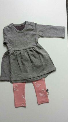 nOeser dress antra & legging boots pink