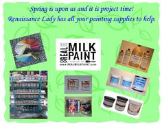Available to purchase all your Real Milk Paint and Supplies @  https://www.facebook.com/Renaissance2Lady?ref=hl