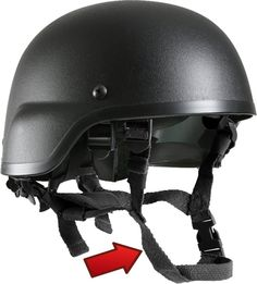 Black Military MICH Tactical Helmet Chin Strap | 9612 | $6.49