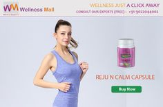 Christmas Special Get 15% Discount insantly on every product Buy Reju N Calm Capsule - Wellness Mall  Reju N Calm Capsule is highly effective against stress, improving palpitation, headache, anorexia, lack of concentration and fatigue. Visit http://goo.gl/LlfCou Get FREE Advice from Doctors : 09022044002 Category: Hair Oil
