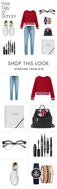 """""""#firstdayofschool"""" by noodles124 on Polyvore featuring A.L.C., White House Black Market, Converse and A.X.N.Y."""