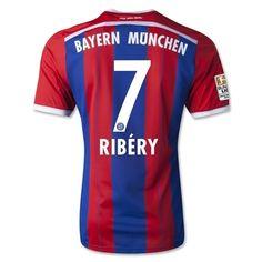 Maillots de football Bayern Munich Ribéry 7-Domicile Football Uniforms a68044039