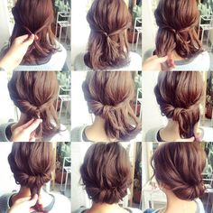 This would be a great up do for my naturally curly hair.. Wedding Updos For Short ...