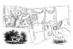 AJ Downing's landscape plan for Springside, country estate of Matthew Vassar, in Poughkeepsie.