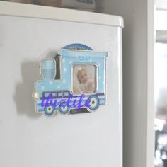 """Cute Lovely Mini locomotive Plastic Photo Ficture Frame with opening 1-3/8"""" x 1-3/8"""" PF08  ... ♡❤♡❤♡ USE PHOTO FRAMES not only to KEEP the PHOTOs but also the MEMORABLE MOMENTs & LOVERS --- #love #photo #magnetic #freezer #Photoframes #Children #Kids #cat #dog #memorable #portable #family #locomotive #mini♡❤♡❤♡"""