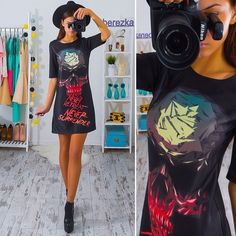 New Womens Sexy Punk Skull Short Sleeve Clubwear Evening Party Summer Mini Dress | Clothing, Shoes & Accessories, Women's Clothing, Dresses | eBay!