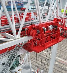 Liebherr - The trolly of a Liebherr Container Crane