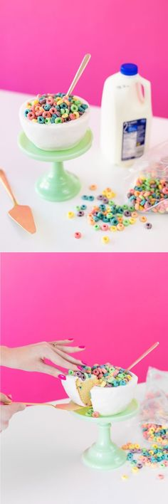 Cereal bowl cake // quirky cakes // dessert DIY