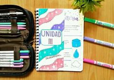 College Notes, Second Grade, Lunch Box, Notebook, Bullet Journal, Study, Organization, Lettering, School