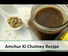 Amchur Ki Chutney | Mango Powder Dip