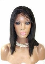 Low Price 12Inch Silky Straight Remy Human Hair Full Lace Wig