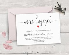 Engagement Invite Templates Entrancing Free Printable Envelope Template  A6  Engagement Party  Pinterest .
