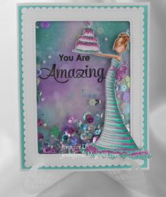 Featuring Stamping Bella's Brittany The Birthday Girl 436673, available at www.addictedtorubberstamps.com  Card found on JenniferD's Blog.