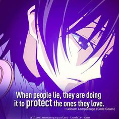 Lelouch has the best quotes (: