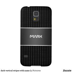 dark vertical stripes with name galaxy s5 case