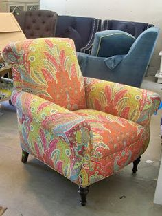 gorgeously reupholstered chair!