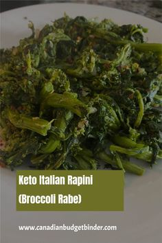 Keto Italian Rapini also known as Broccoli Rabe is nutritious and a  great way to get in your greens.  It's easy to make rapini and you can  find it at every grocery store around Canada. Italian Rapini is also  delicious as a cold rapini salad or you can make rapini sandwiches with  your keto bread. Oh ya, they are good!