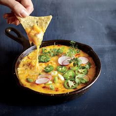 For your next tailgate or Super Bowl Party, put out a bowl of our Butternut Squash Queso Fundido. This cheesy snack sports two-thirds less fat than the classic dish and gets extra richness from but...