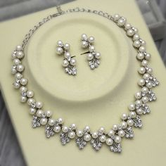 Cheap necklace jewelry display, Buy Quality necklace strawberry directly from China jewelry gold necklace Suppliers: Rose Gold Bridal Jewelry Sets Cream Faux Pearl Rhinestone Crystal Diamante Wedding Necklace and EarringsUSD 5.49/setSILV