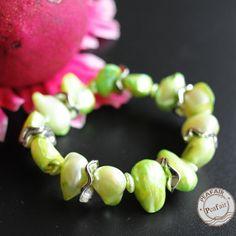 Baroque Multicoloured Pearls bracelet irregular pearls by PEAFAIR
