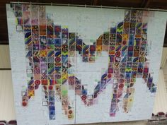Kids project, 500 drawings, 1 montage - via The Art Center - for Cranberry Community Days; Collaborative Project by Hercio Dias