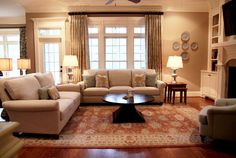 Lay out for family room by Design Lines Ltd.