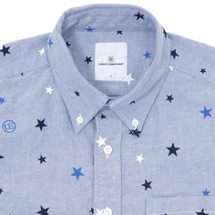 Japanese buttondown with stars. What's not to love?