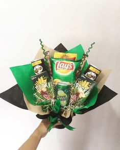 Greeny snack bouquet