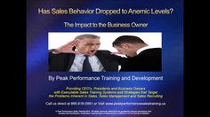 Sales Training Spotlight: Has Sales Behavior Dropped to Anemic Levels?