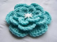 Items similar to Crocheted flower appliques inch embellishment motif Avalon aqua one flower on Etsy Flower Applique, Crochet Flowers, Appliques, Embellishments, Aqua, Trending Outfits, Unique Jewelry, Handmade Gifts, Etsy