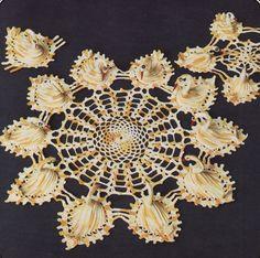 Crochet Swan Doily PatternInstant Download by McPhersonStVintage