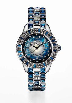 #chronowatchco blue watch by Dior