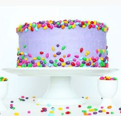 Lavender Candy-Decorated Cake