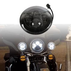 """36511 motorcycle-parts 7"""" Motorcycle LED Daymaker Projector Headlight Light for Harley Davidson Touring  BUY IT NOW ONLY  $89.9 7"""" Motorcycle LED Daymaker Projector Headlight Light for Harley Davidson Touring..."""