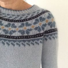 Ravelry: Project Gallery for SnowFlower pattern by Heidi Kirrmaier Fair Isle Knitting Patterns, Fair Isle Pattern, Knit Patterns, Loose Sweater, Work Tops, Sweater Design, Autumn Fashion, Women's Fashion, Knit Crochet
