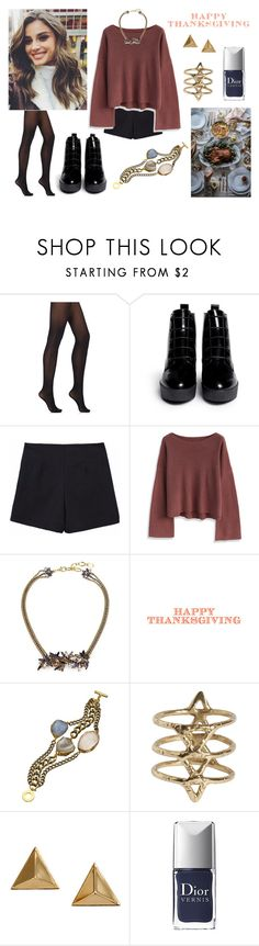 """Thanksgiving 4 !!"" by milena-serranista ❤ liked on Polyvore featuring Wolford, Opening Ceremony, Chicwish, Erickson Beamon, Janna Conner Designs, Rebecca Taylor, Hayden-Harnett and Christian Dior"