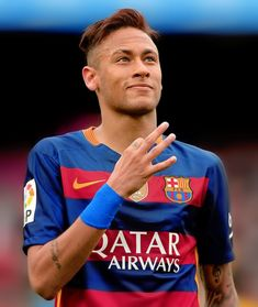 Neymar after scoring a goal Barcelona vs Espanyol 08/05/2016 via barcelonaesmuchomas.tumblr.com