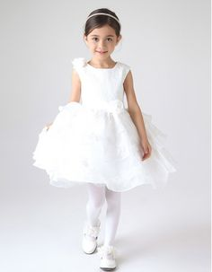 Find pretty ball gown short layered skirt girls first communion dresses, flower girl dresses,