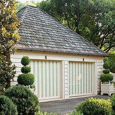 Gave the Garage Style < Create a Modern Georgian Home - Southern Living Modern Georgian, Georgian Homes, Garage Door Design, Garage Doors, Garage Entry, Exterior Paint, Exterior Design, Exterior Colors, Exterior Blinds