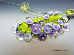 Made to Order - Bubble Bath lampwork handmade glass beads by Manuela Wutschke