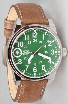 The Field and Research Watch in Brown and Green by LRG